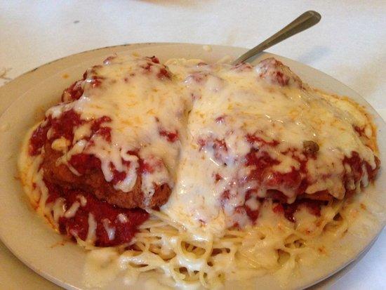 Hendersonville, PA: Chicken Parmesan over Pasta