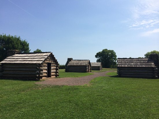 Valley Forge National Historical Park : Cabins for the American troops