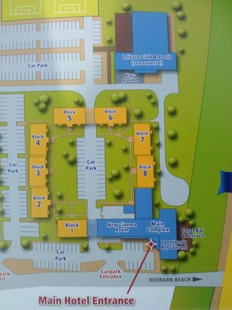 Quality Hotel & Leisure Center Youghal : Map of hotel, apartments and pool