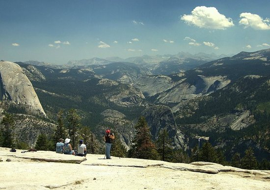 Sentinel Dome: A little fire smoke, but great view