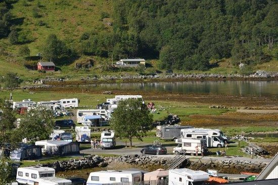 Geiranger Fjord : The campsite along side the town area