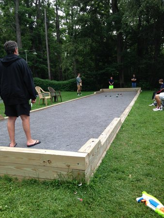 Baumann's Brookside: Bocci Ball court and Tournament