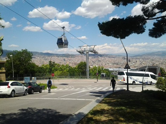 Parc de Montjuic : teleférico Parque Montjuic