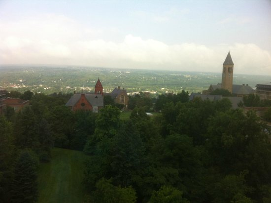 The Statler Hotel at Cornell University : View from our 8th floor room on a hazy morning