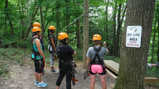Soaring Cliffs Zip Line Course : Ready to fly!