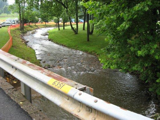 The Creek that runs underneath Jack's Creek Covered Bridge