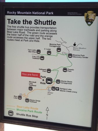 Bear Lake : shuttle route