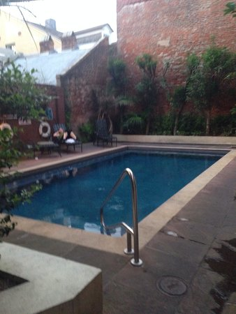 Pool and courtyard at Hotel St. Marie