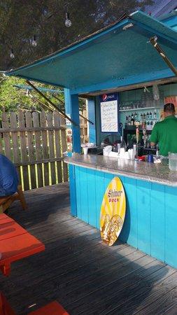 Food Factory and Pub: Outdoor Tiki Bar