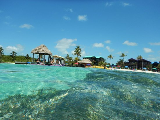 X'tan Ha Resort: A shot of the resort from the water.