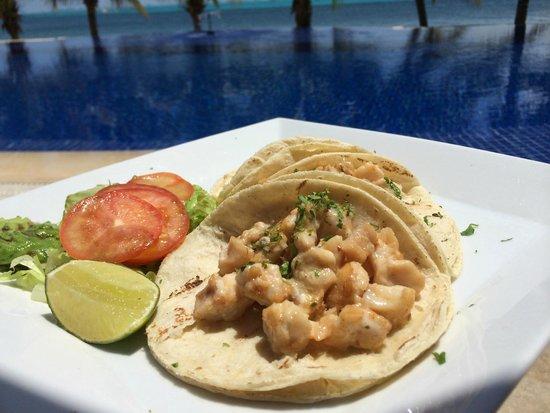 Zoetry Villa Rolandi Isla Mujeres Cancun: Fish Tacos