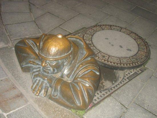 Bratislava Old Town: the same man at work