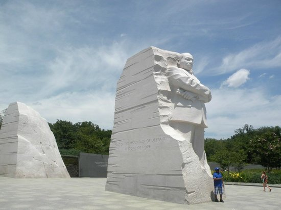 Martin Luther King, Jr. Memorial : Close up of Martin Luther King, Jr.