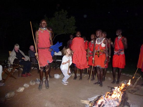 Cottar's 1920's Camp: Maasai dancing