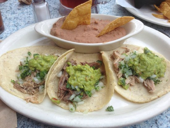 Picante: Carnitas Tacos with Refried Beans