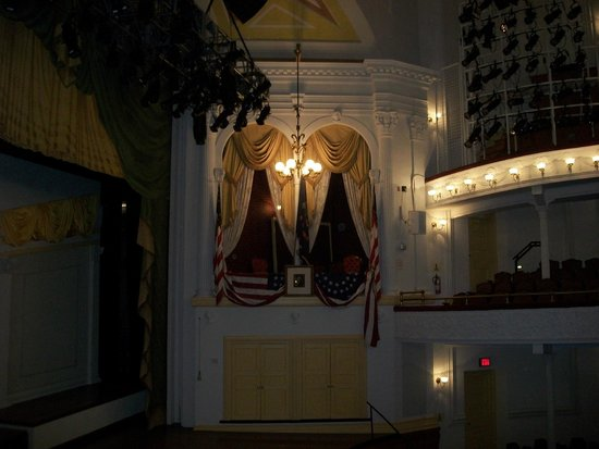 Ford's Theatre: Lincoln's seat