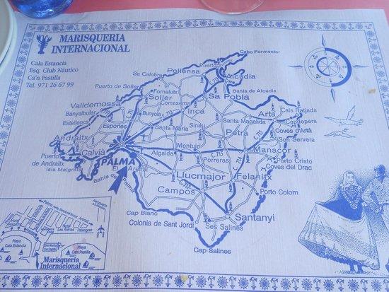 Marisqueria internacional: tovaglietta