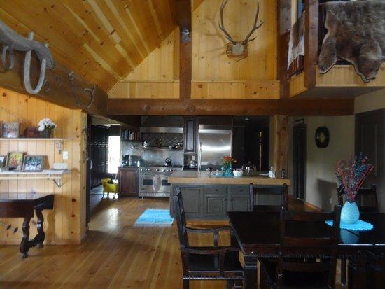 Cherry Creek Lodge: Inside the Lodge Kitchen area