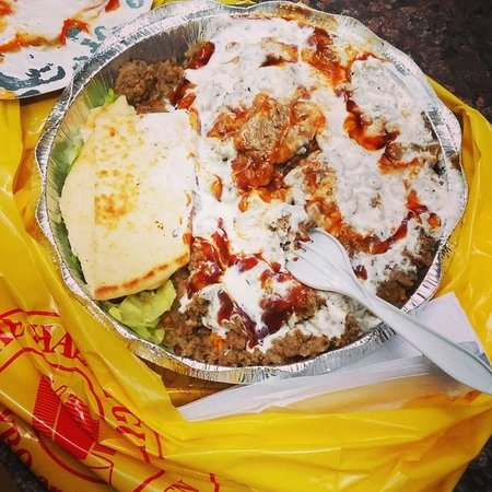 The Halal Guys : gyro over rice