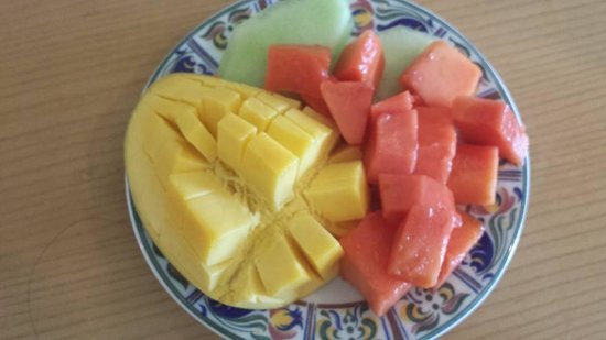 Beach Palace: Fresh Mango & Payaya