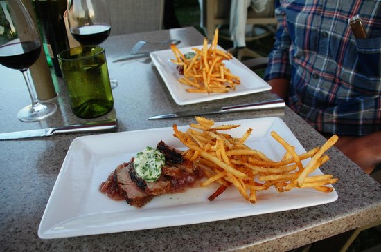The Bluff Restaurant at Friday Harbor House: Steak Frites