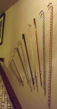 Clevedon Court: Glass walking Sticks