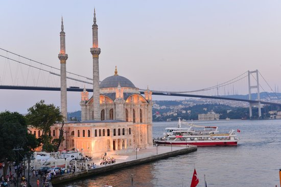 The House Hotel Bosphorus: Ortakoy Mosque and Bosphorus Bridge View