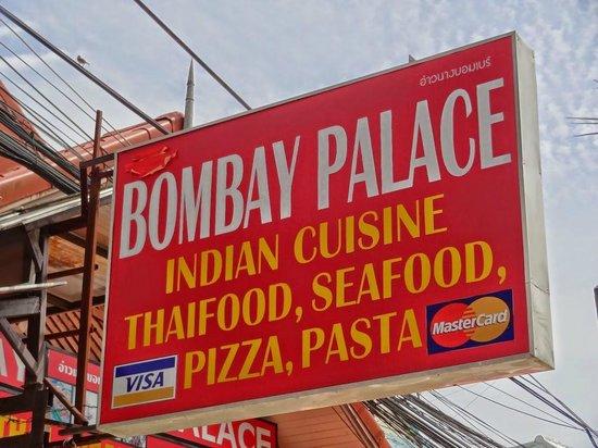 Bombay Palace: Neben indischer Küche wird noch allerhand Anderes angeboten