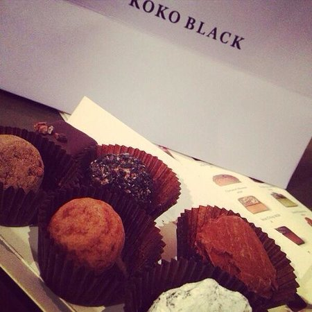 Koko Black Chocolate : Gift of 6 awesome chocolate truffles.