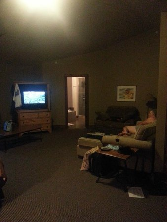 Copper Horse Lodge: roomy with flat screen tv