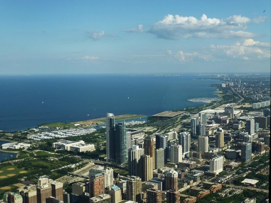 Skydeck Chicago - Willis Tower : view from top