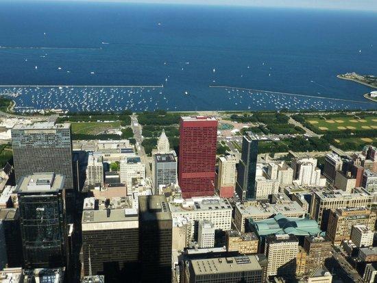 Skydeck Chicago - Willis Tower : Lake Michigan