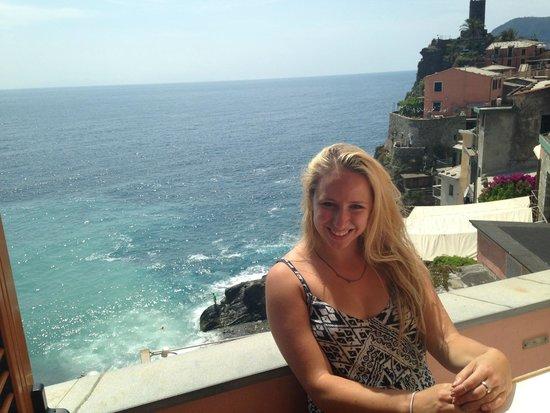 Elisabetta Carro: the balcony on our room!
