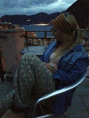Elisabetta Carro: Enjoying wine as the sun sets