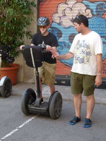 Barcelona Segway Glides: Edgar teaching