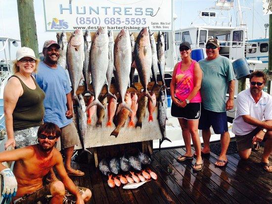 Huntress Charter Fishing: limts caught
