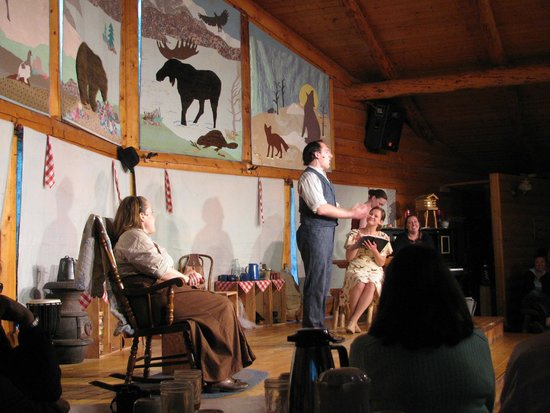 McKinley Chalet Resort: Scene from Cabin Nite. Entertainment on the grounds!