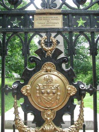 Thomas Jefferson's Monticello: gate around Jefferson cemetary