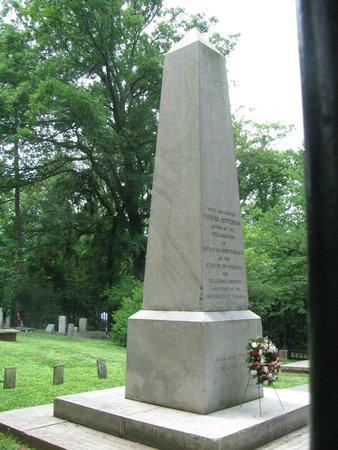 Thomas Jefferson's Monticello: Jefferson's grave marker