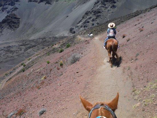 Haleakala Crater: Heading down the trail
