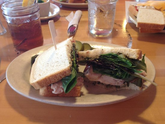 Five Loaves Cafe: Whole sandwich serving