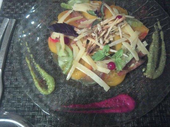 Le Bartok : carpaccio de tomates (menu)