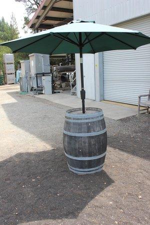 Hagafen Cellars : Repurposed Wine Barrell