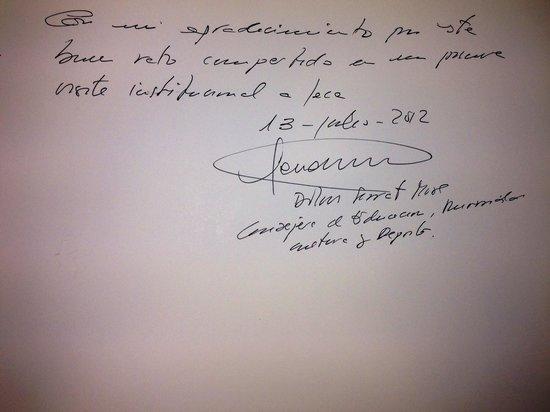 Jaca, España: Dolores Serrat Moré. Presidenta de Educación Cultura Universidad y Deportes del Gobierno de Arag
