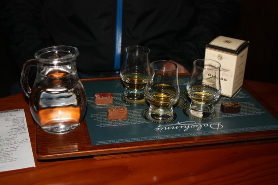 Dalwhinnie Distillery: The chocolate pairings were unique and delicious