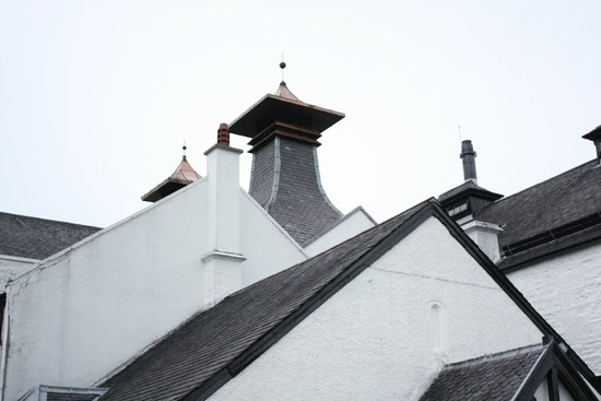 Dalwhinnie Distillery: The tops of the stills - very ornate