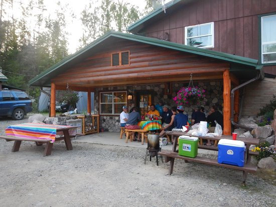 "Moose Track Adventures : The Blauch family hosted an inproptu ""Fish Fry"" for the entire camp... an unexpected and pleasan"