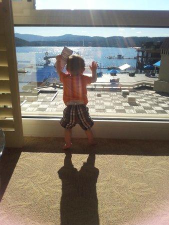The Coeur d'Alene Resort: big windows