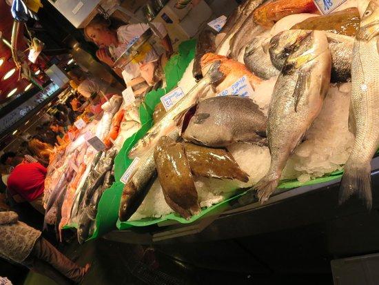 St. Josep La Boqueria: The seafood area