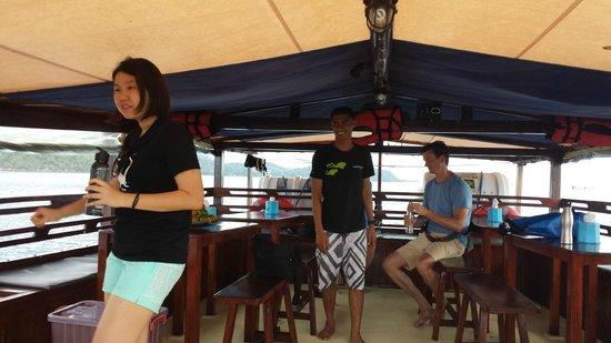 Wicked Diving, Komodo: Dining area